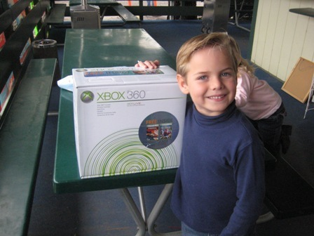 The grand prize winner with Xbox 360.