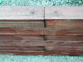 Planter retaining wall.