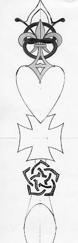Final sketch for the Da Vinci Code Lovespoon.